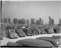Large used car lot, 1930s.