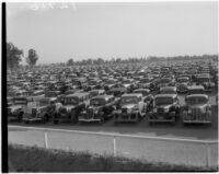 Large used car lot, 1930s.