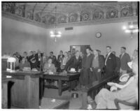 Kidnappers of William F. Gettle plead guilty to his abduction, Los Angeles, 1934