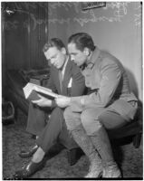 Actors James Cagney and Fredric March.