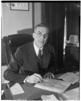Herbert C. Legg, chairman of the Los Angeles County Board of Commissioners from 1934 to 1938