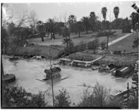 Damage after near-tornado level winds and rain strike Alhambra.  February 13, 1936.