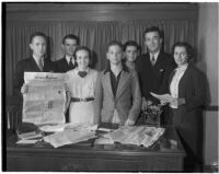 "UCLA members of the ""Veterans of Future Wars,"" a satirical college group begun at Princeton.  April 7, 1936."