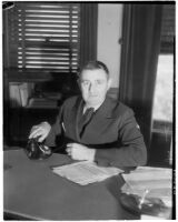 Leland M. Ford, new County Supervisor for Los Angeles' 4th District.  Circa April 3, 1936.