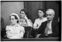 Jury for the trial of Albert Dyer, confessed murderer of three Inglewood girls, Los Angeles, August 11, 1937