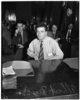 Albert Dyer on trial for the murder of three Inglewood girls, Los Angeles, August 1937