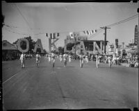 Representatives from Oakland marching in the Admission Day parade, Santa Monica, September 9, 1937