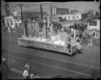 San Bernardino County float in the Admission Day parade, Santa Monica, September 9, 1937