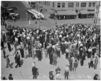Crowd at the 38th annual convention of the State Federation of Labor, Long Beach, September 1937