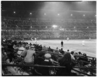 Crowd watching a baseball game at Wrigley Field in South Los Angeles