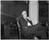Dr. A.M. Wilkinson, vice crusader, before the Los Angeles County Grand Jury, September 8, 1937