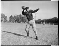 Belmont High School fullback Baylor Maynard, Los Angeles, circa 1937