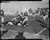 Football game between the Los Angeles Bulldogs and the Salinas Packers at Gilmore Stadium, Los Angeles, November 7, 1937
