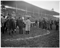 "Race horse ""He Did"" who won the Christmas Handicap on opening day of Santa Anita's fourth horse racing season, Arcadia, December 25, 1937"