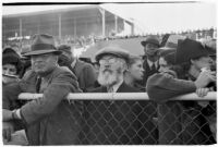 Spectators on opening day of Santa Anita's fourth horse racing season, Arcadia, December 25, 1937