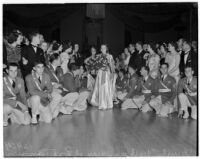 Cheryl Walker, queen of the 1938 Tournament of Roses Parade, at the Tournament Ball, 1937