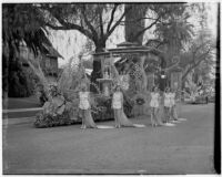 """Queen of Fantasy"" float in the Tournament of Roses Parade, Pasadena, 1938"