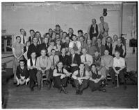 Staff photo taken at the Illustrated Daily News, Los Angeles, 1937