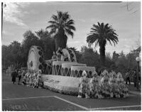 """Rosalie"" float in the Tournament of Roses Parade, Pasadena, 1938"