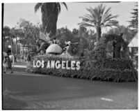 """Fairyland Symphony"" float in the Tournament of Roses Parade, Pasadena, 1938"
