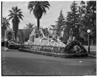 """Pageant of the Pacific"" float in the Tournament of Roses Parade, Pasadena, 1938"