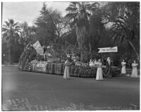 """The Seasons"" float in the Tournament of Roses Parade, Pasadena, 1938"