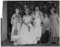 Clubwomen at a picnic meeting of county women's club presidents and chairmen, Los Angeles, July 10, 1939
