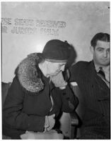 Rose Pianezzi, mother of Peter Pianezzi who is on trial for the murders of George (Les) Bruneman and Frank A. Greuzard, Los Angeles, 1940s