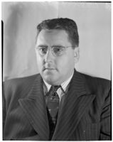 Portrait of Ned Cronin, Los Angeles Daily News sports editor, Los Angeles, January 1940