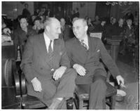William J. Cook and Edward Levine at the liquor license bribe trial, Oct. 1939 - May 1940