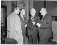A. Brigham Rose, William G. Bonelli, Carlos S. Hardy, and Merle Templeton at the liquor license bribe trial, Oct. 1939 - May 1940