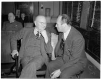 Harry L. Ferguson and A. Brigham Rose at the liquor license bribe trial, Oct. 1939 - May 1940
