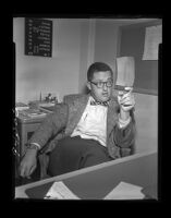 Dr. H. R. Brickman, medical director of psychiatric phase of Norwalk reception center, Norwalk, 1955