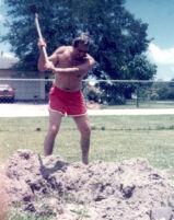 Mr. Guardia gardening