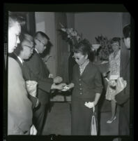 Mourners at a funeral, Mission Nisei Mortuary, Los Angeles, 1964