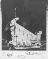 "Newsreel Theatre ""Park,"" photograph of rendering"