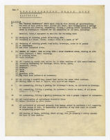 Specification check list, earthwork, undated