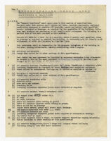 Specification check list, concrete and masonry, undated