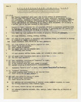 Specification check list, carpentry, millwork and accessories, undated