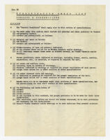 Specification check list, screens and screen-cloth, undated