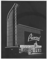 Picwood Theatre,  Los Angeles, facade, night