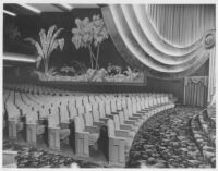 Picwood Theatre,  Los Angeles, auditorium, side wall
