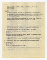 Specification check list, plumbing, undated