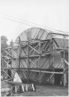 Puente Theatre, Puente, construction, end wall