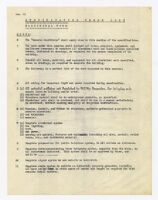 Specification check list, electrical work, undated