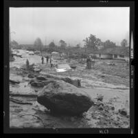 Mud flow on Calabria Drive, Glendora 1969