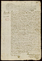 Contract for sale of land, Azcapotzalco, 1737