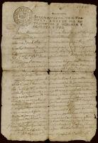 Receipt for debt, San Juan Bautista, Metepec