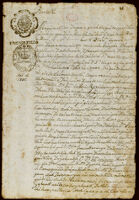 Contract for sale of land, Atzcapotzalco, 1745