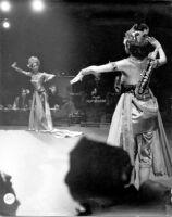 2 female dancers performing the Ramayana